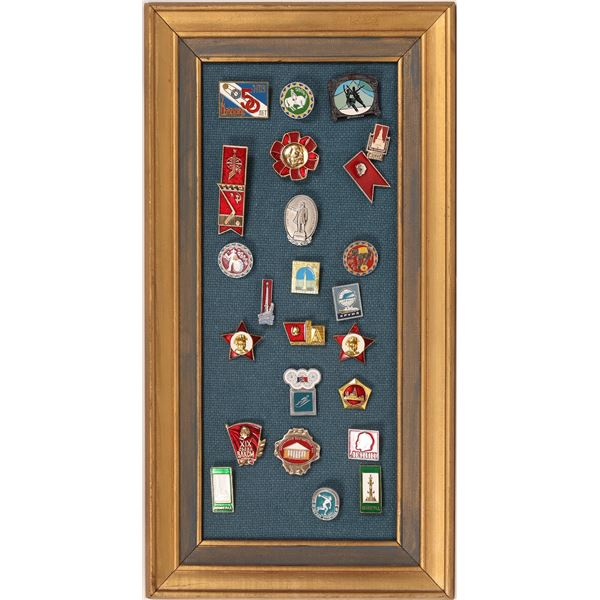 USSR Soviet Russia Communist Propaganda Pin Badges (24)  [133827]