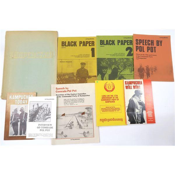 Pol Pot Communist Propoganda Booklets (9)  [136892]