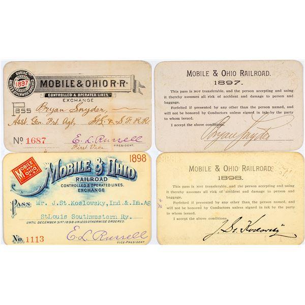 Mobile & Ohio Railroad Annual Passes  [138880]