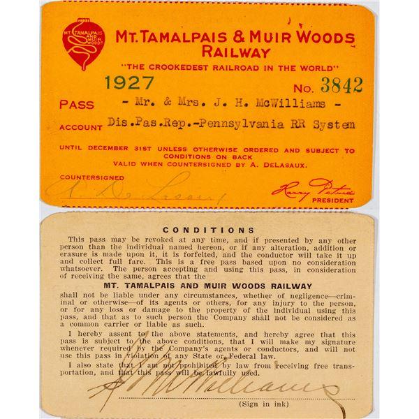 Mt. Tamalpais & Muir Woods Railway Annual Pass  [138878]