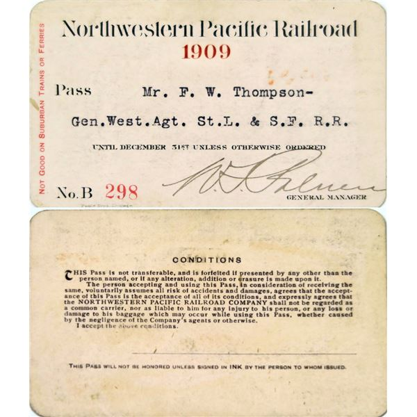 Northwestern Pacific Railroad Annual Pass  [135914]