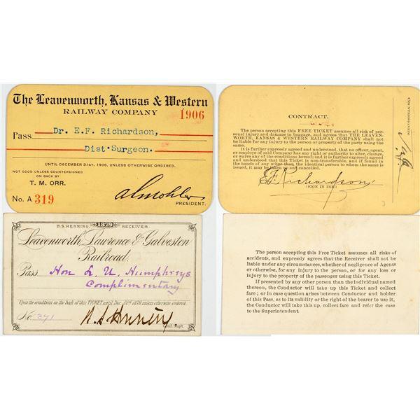 Kansas Railroad Annual Pass Pair  [138890]