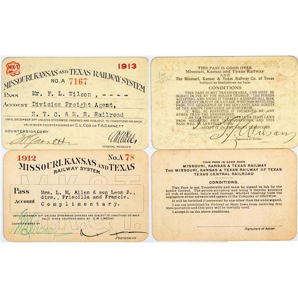 Missouri, Kansas & Texas Railway System Annual Passes  [138883]