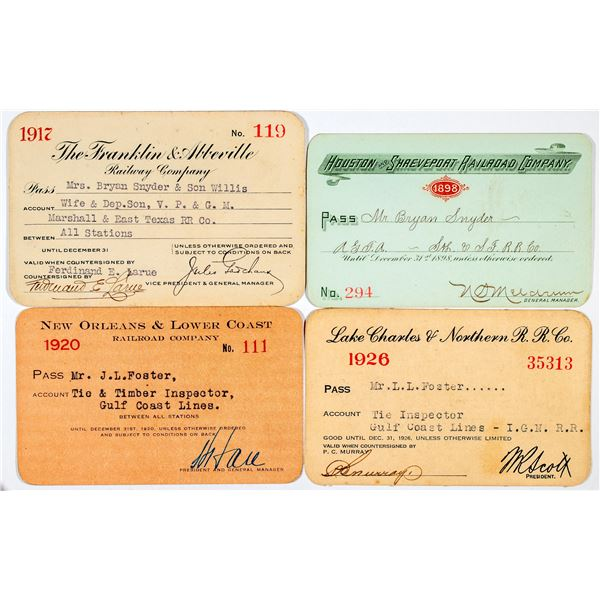 Louisiana Railroad Annual Pass Group  [138847]