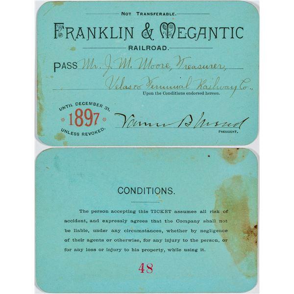 Franklin & Megantic Railroad Annual Pass  [138840]