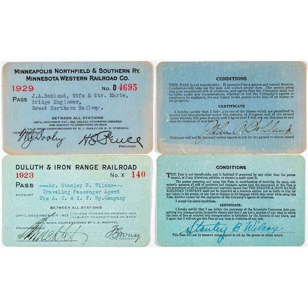 Great Lakes Region Railroad Pass Pair  [138848]