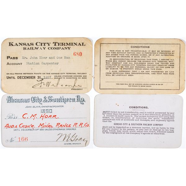 Two Different Kansas City Railroad Annual Passes  [138858]