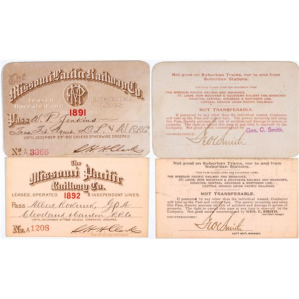 Missouri Pacific Railway Annual Passes  [138881]