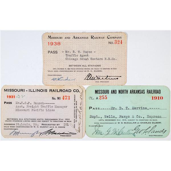 Missouri Railroad Annual Pass Group  [138884]