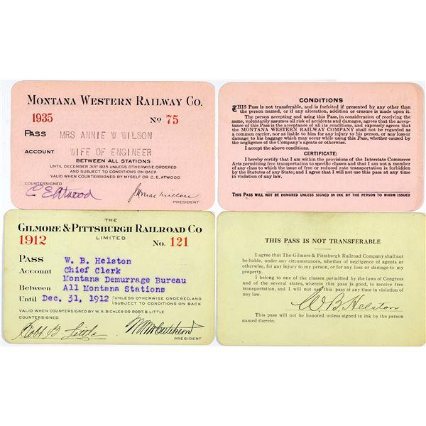 Montana Railroad Pass Pair  [138846]