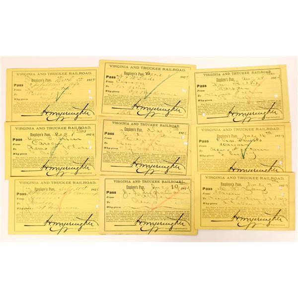 Virginia & Truckee Railroad Employee Pass Collection  [135269]