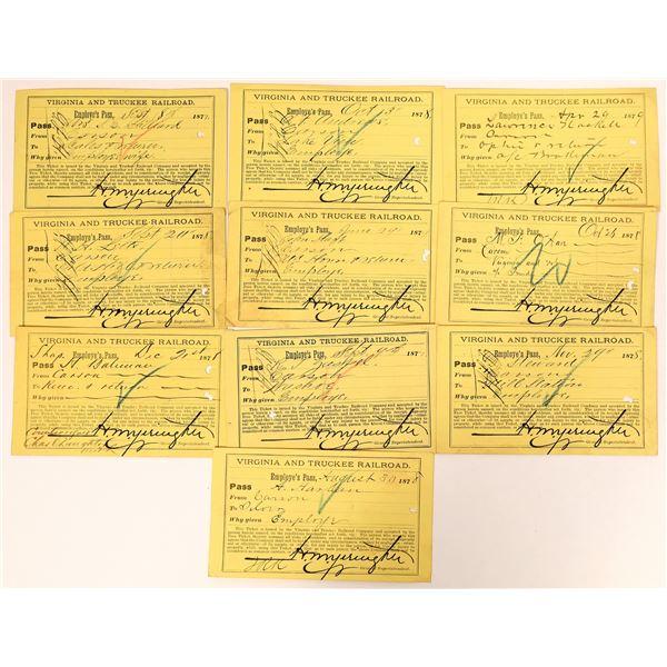 Virginia & Truckee Railroad Employee Pass Collection  [135054]