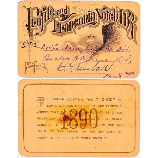 Profile & Franconia Notch Railroad Annual Pass  [138863]