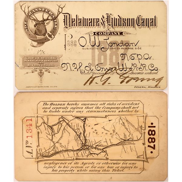 Delaware and Hudson Canal Company Pass  [137647]