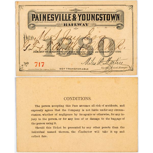 Painesville & Youngstown Railway Annual Pass  [138862]