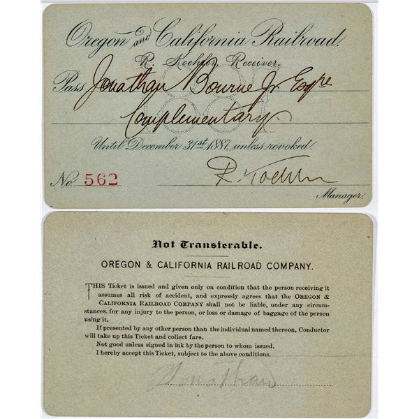 Oregon & California Railroad Annual Pass  [138870]