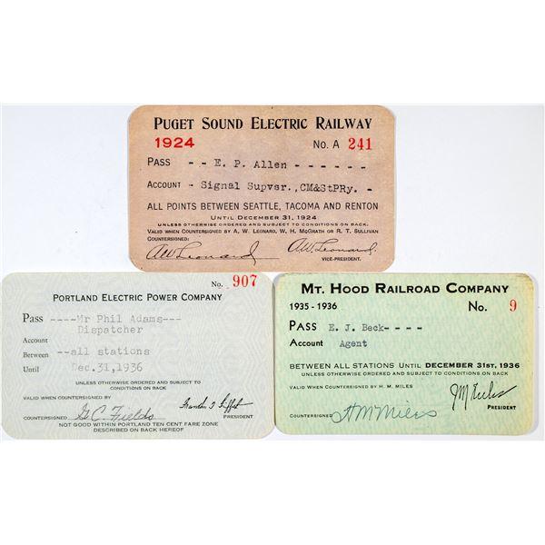 Three Different Oregon Railroad Annual Passes  [138860]