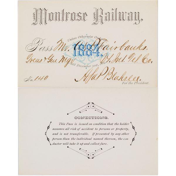 Montrose Railway Annual Pass  [138879]
