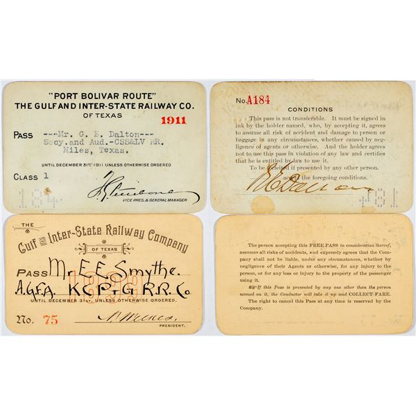 Gulf & Inter-State Railway Co. of Texas Annual Passes  [138856]