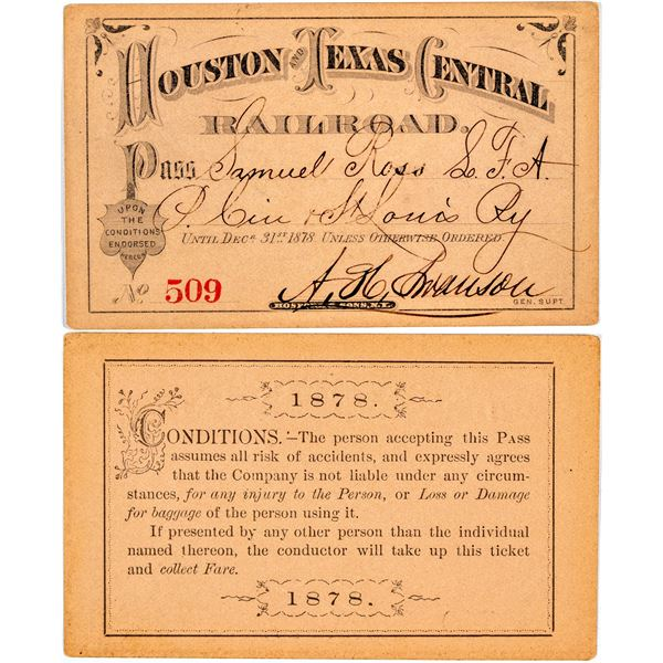 Houston and Texas Central Railroad Pass  [138888]