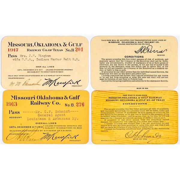 Missouri, Oklahoma & Gulf Railway Company Annual Passes  [138882]