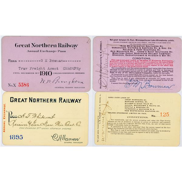 Great Northern Railway Company Annual Passes  [138855]