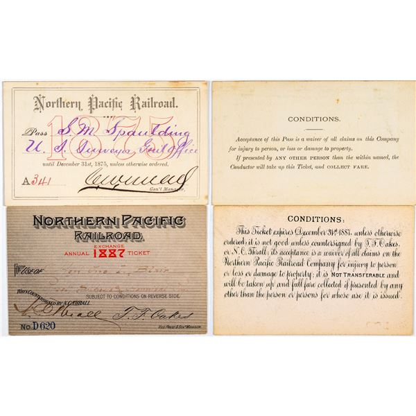 Northern Pacific Railroad Annual Passes  [138872]