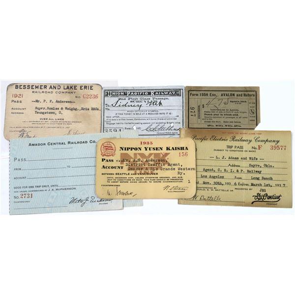 Miscellaneous Railroad Passes  [138936]
