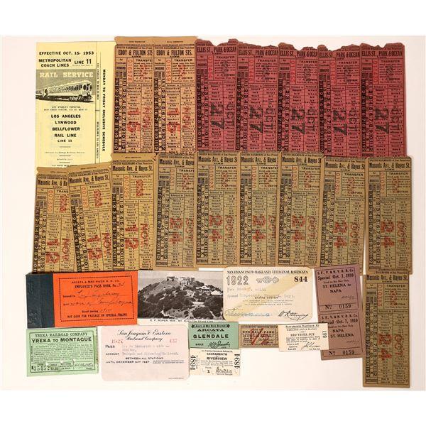 California Railroad Tickets & Other Ephemera  [135281]