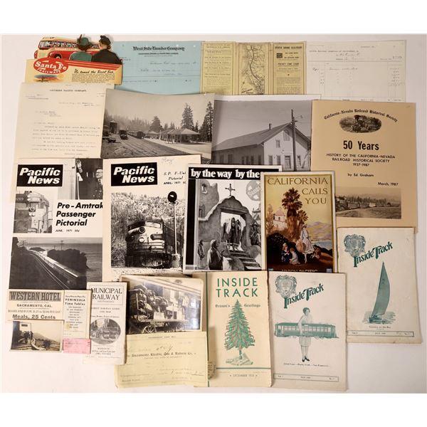 California Railroad Ephemera Collection  [136009]