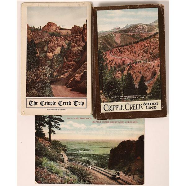 Cripple Creek Shortline Railroad Booklets & Postcard  [135296]
