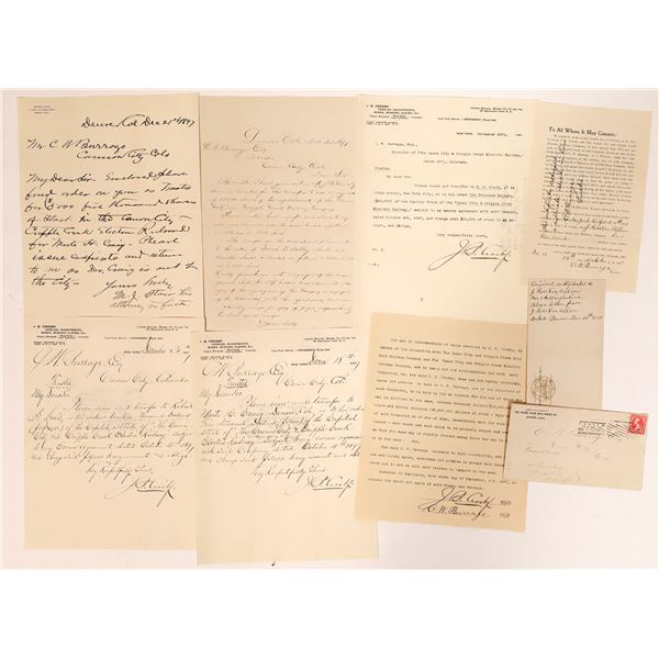 Canon City & Cripple Creek Railway Correspondence  [135078]