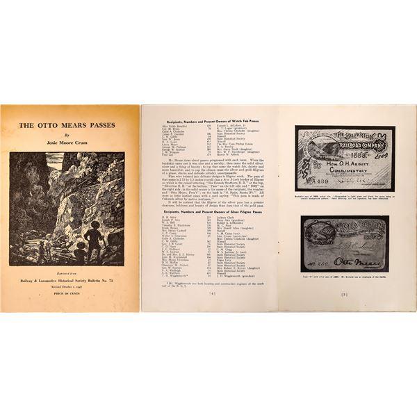The Otto Mears (Railroad) Passes Brochure  [135087]