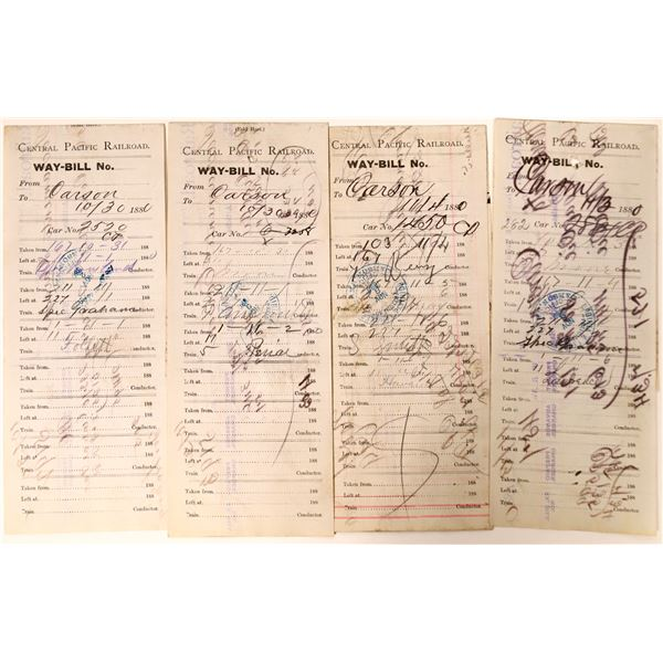 Central Pacific Railroad Way-bills for Deliveries in Nevada  [135055]