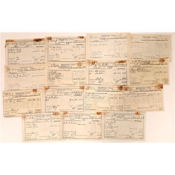 Eureka & Palisade Railroad Company Freight Bills  [135266]