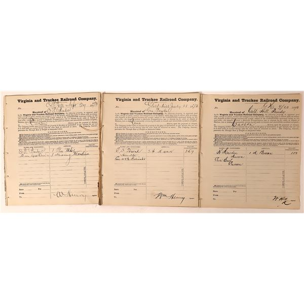 Virginia and Truckee Railroad Receipt Books from Gold Hill  [132619]