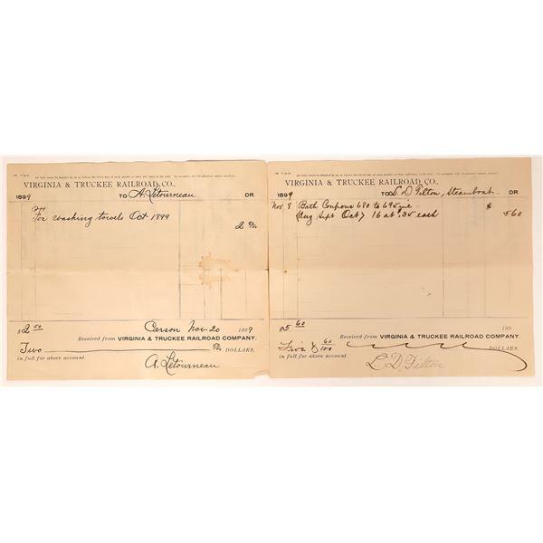 Virginia & Truckee Railroad Receipts for Baths  [135280]
