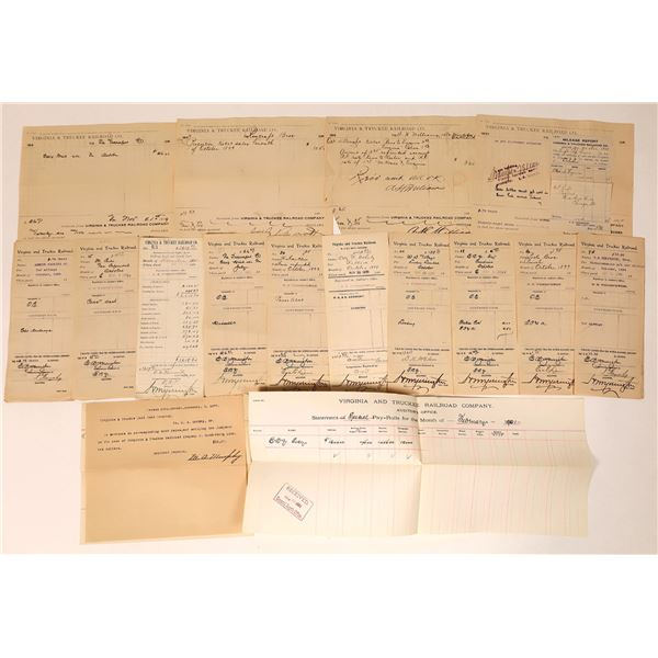 Virginia & Truckee Railroad Receipts for Various Businesses  [135279]