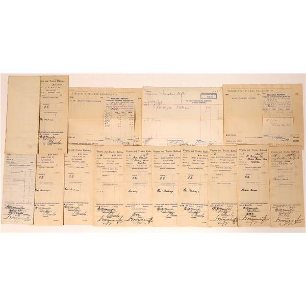 Virginia & Truckee Railroad Receipts to Other Railroads  [135278]