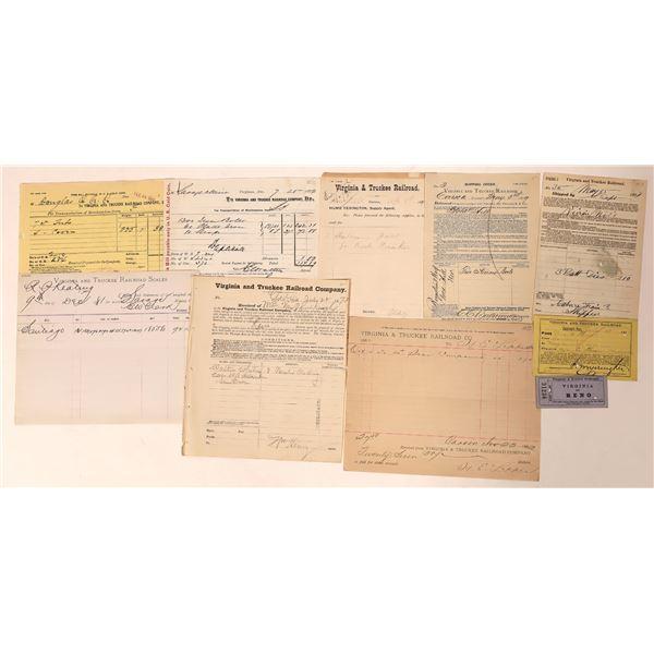 Virginia & Truckee Railroad Ephemera Collection  [132618]