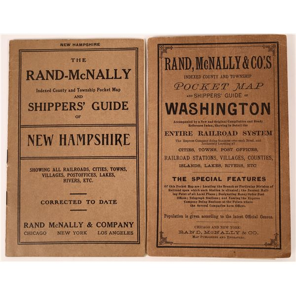 Early Rand-McNally State Shipper's Guides w/Color Maps (2)  [137622]