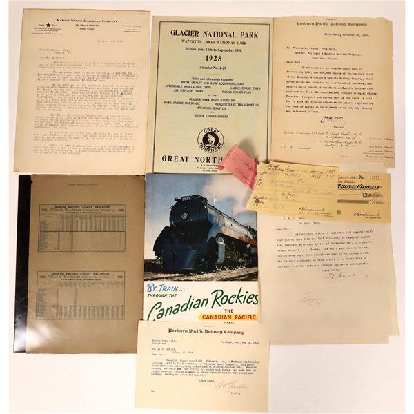Railroad Ephemera (Letterheads & Timetables)  [135251]