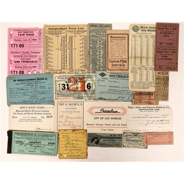 Railroad Passes, Tickets & Timetables  [132634]