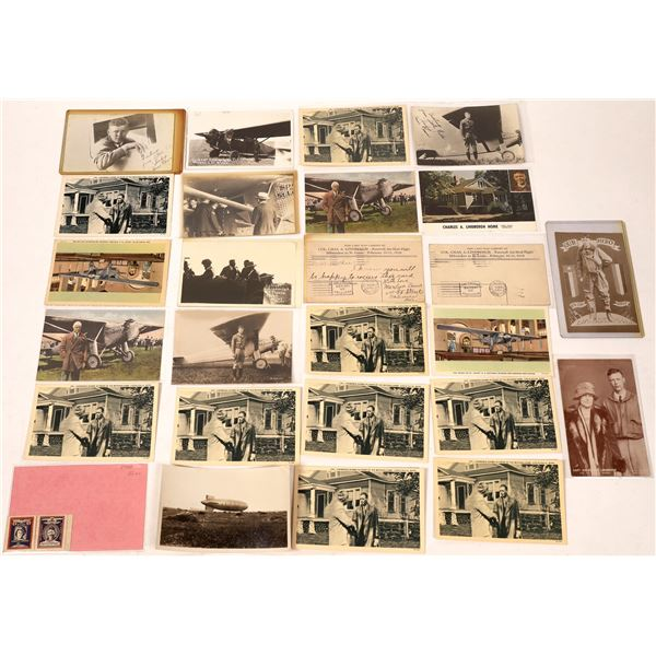Charles Lindbergh Collection of Postcards  (Approx 25)  [138097]