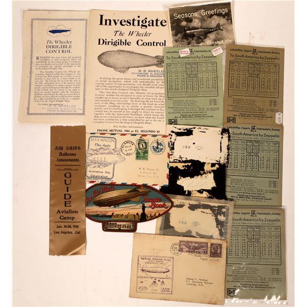 Dirigible/Zeppelin/Air Ship Ephemera  [135113]
