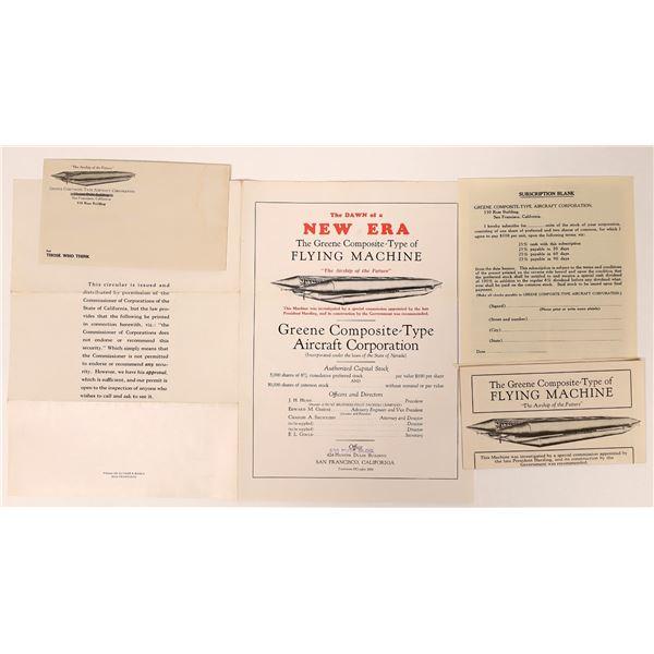 Greene Composite-Type of Flying Machine Prospectus & Brochures  [135127]