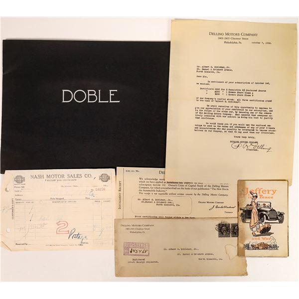 Automotive Ephemera: Jeffery/Doble/Delling/Nash  [135118]