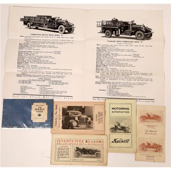 Automotive Ephemera: Nash/Stanley/Stutz/Maxwell  [135109]