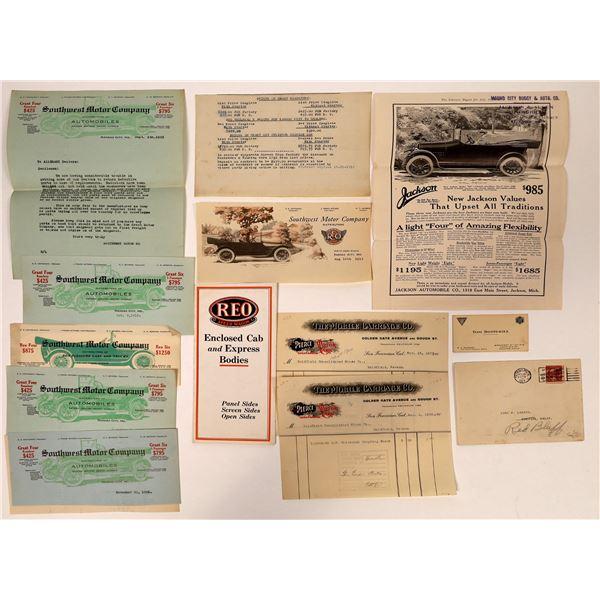 Hudson/Jackson/Pierce Arrow/REO Speed Wagon Automotive Ephemera  [132652]