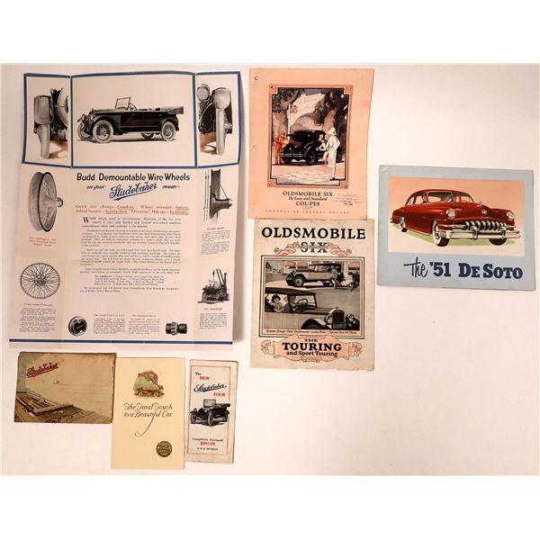 Studebaker/Oldsmobile/DeSoto Automotive Ephemera  [132653]